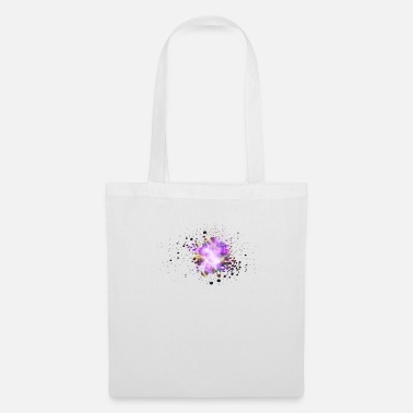 Bright Colours Crab Nebula On LCD Bright Neon Colours Hubble - Tote Bag