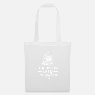 Mountains I Like Smelling Like a Campfire for Campers, - Tote Bag
