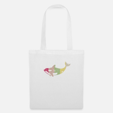 Killer Whale Retro Distressed Killer Whale Design for Orca - Tote Bag