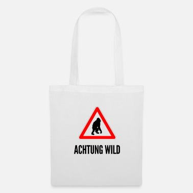 Feu De Circulation Attention Wild Un singe - Tote Bag
