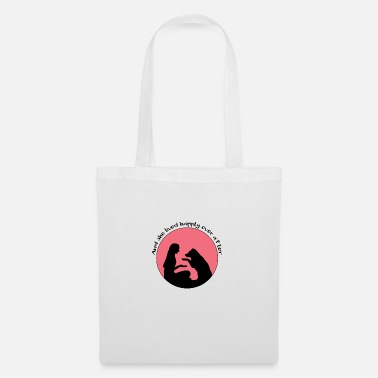 Patte Mariage, femme, chien, amour animal, amour chien - Tote Bag