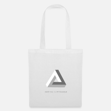 Impossible Triangle | nothing is impossible optical illusion - Tote Bag