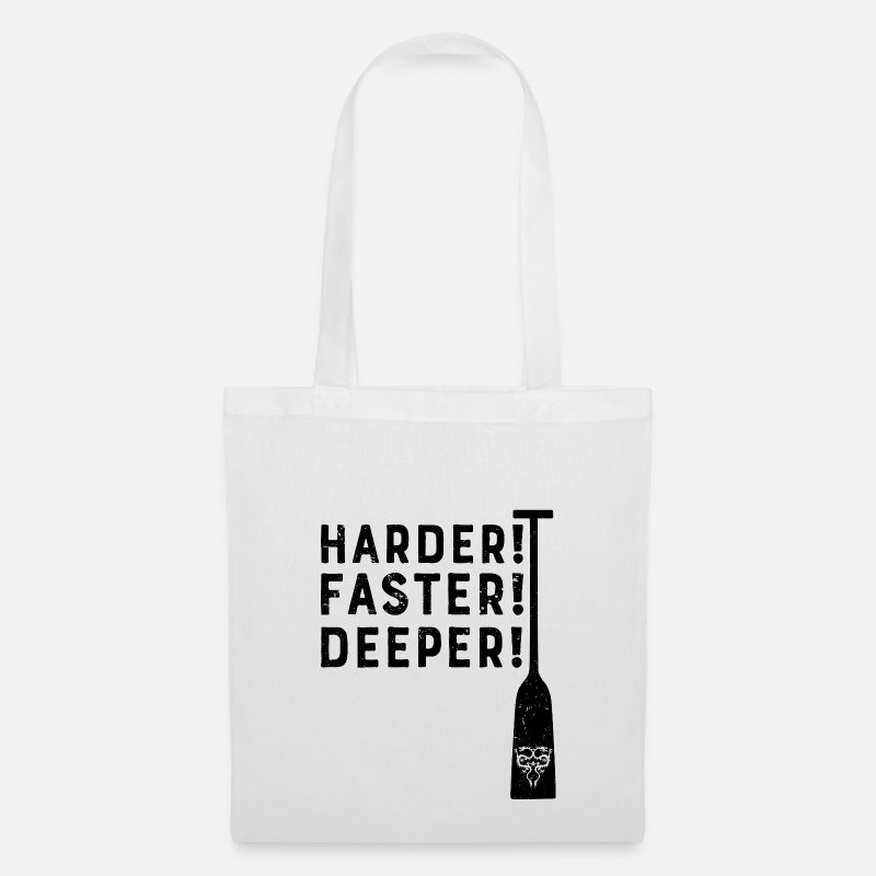 Dragon Bags & Backpacks - Dragon Boat Harder! Faster! Deeper! Canoe sports - Tote Bag white