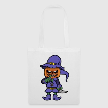La peur du monstre de citrouille d'Halloween - Tote Bag
