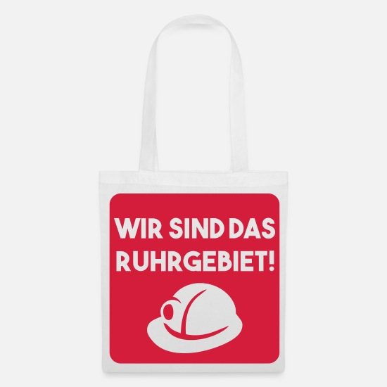 Bochum Bags & Backpacks - WE ARE THE RUHR AREA (v) - Tote Bag white