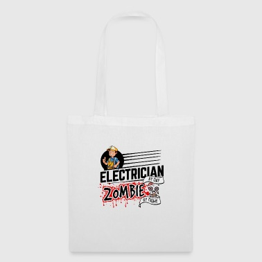 Proud Electrician - Zombie by night - Tote Bag