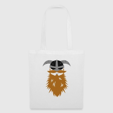 Barbe viking Odin Thor casque guerrier idée nordique - Tote Bag