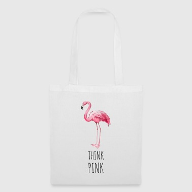 FLAMINGO. Think Pink - Borsa di stoffa