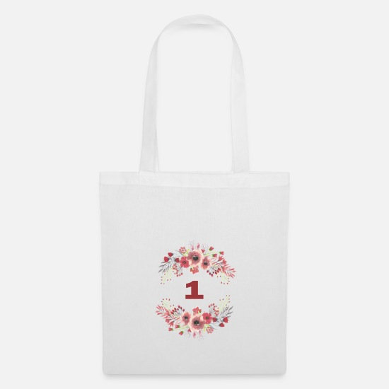 Birthday Bags & Backpacks - 1st birthday - Tote Bag white
