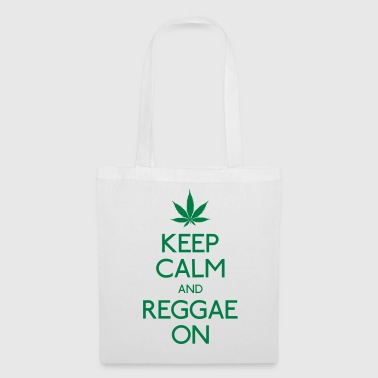 Keep Calm and reggae on mantener la calma y el reggae en - Bolsa de tela