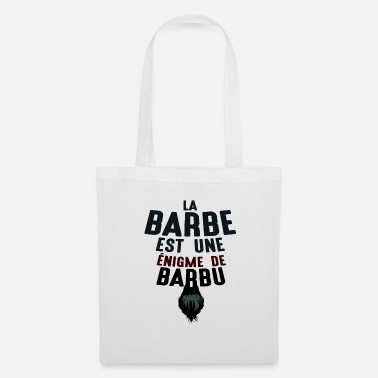 Grandpère barbe enigme barbu citations humour drole 1807 j - Tote Bag