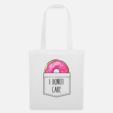 Typo I DONUT CARE Pocket - Shirt Design - Stoffbeutel