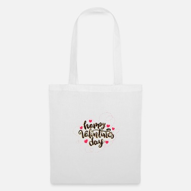 Happy vanentine's day - Sac en tissu