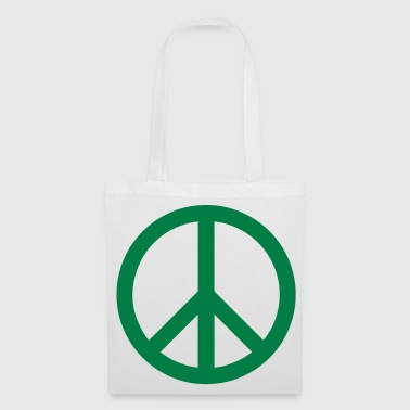 Peace Sign Filled Green - Tote Bag