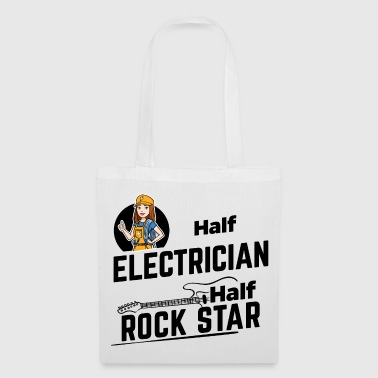 Femme électricienne - Half Rock Star - Tote Bag