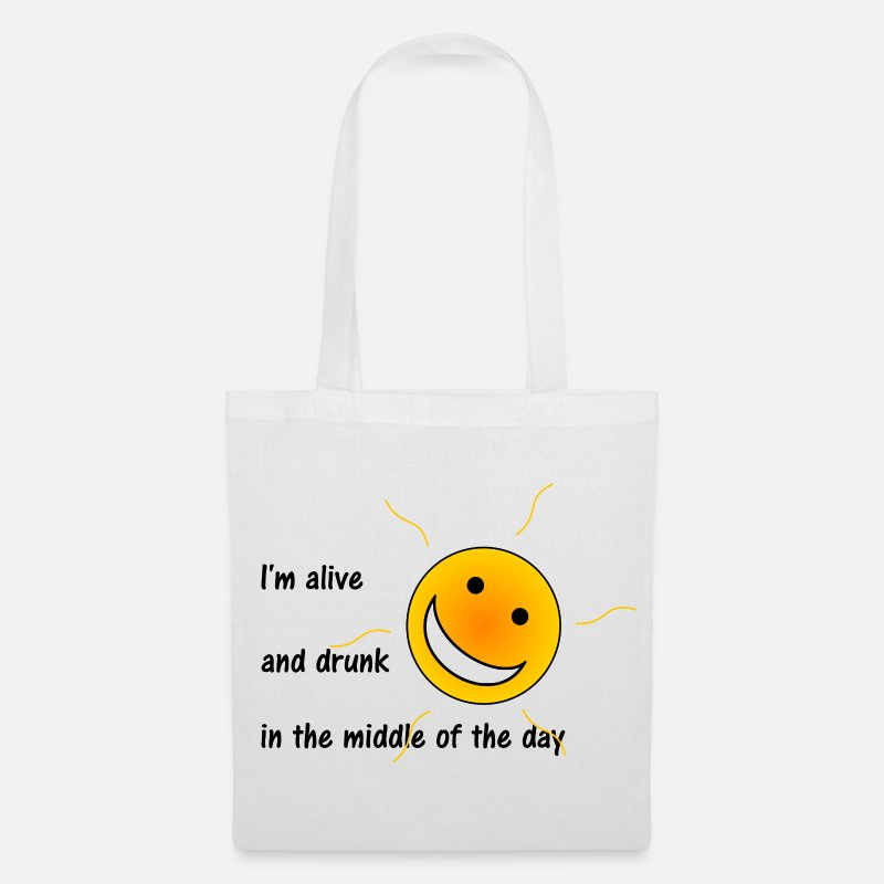 Alcohol Bags & Backpacks - Alive and Drunk - Tote Bag white