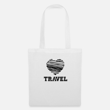 Wanderlust Travel Heart - Backpacker Wanderlust - Borsa di stoffa