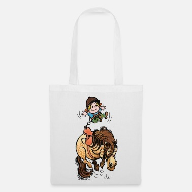 Thelwell Funny Illustration Bucking Horse - Tote Bag
