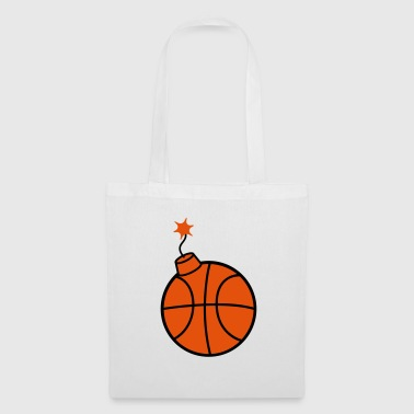 throw basketball ball play club sport goal sc - Tote Bag