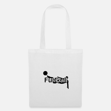 Kick Football silhouette font in the middle - Tote Bag