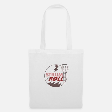 Drum N Bass Guitar Bass Musical Instrument Rock n Roll Band Song - Tote Bag