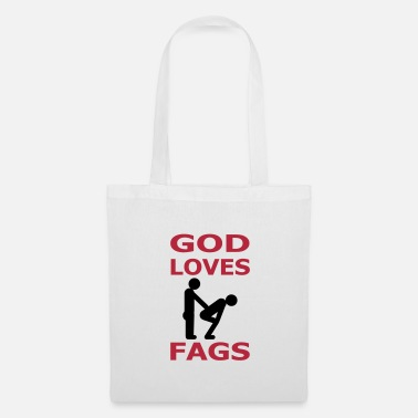 Cool god loves fags - Tote Bag