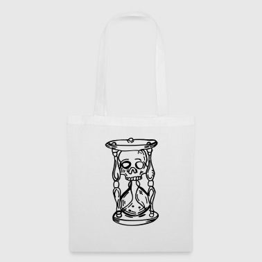Skull hourglass - Tote Bag