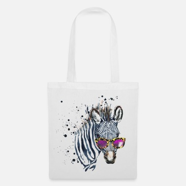 Animal Planet Zebra with sunglasses - Tote Bag