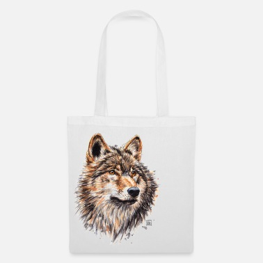 Wolf Wolf Painting - Tote Bag