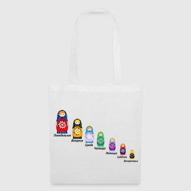 Russian Days of the Week - Tote Bag