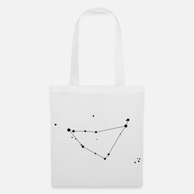 Astrology Bags & Backpacks - Capricorn Constellation - Tote Bag white
