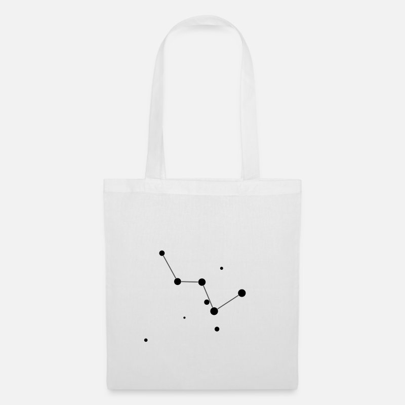 Astrology Bags & Backpacks - Cassiopeia Constellation - Tote Bag white