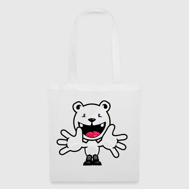 ours polaire en peluche Bienvenue / polar bear teddy welcome (DDP) - Tote Bag