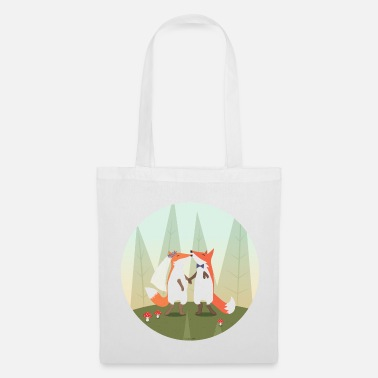 Mariage fox marriage - Tote Bag