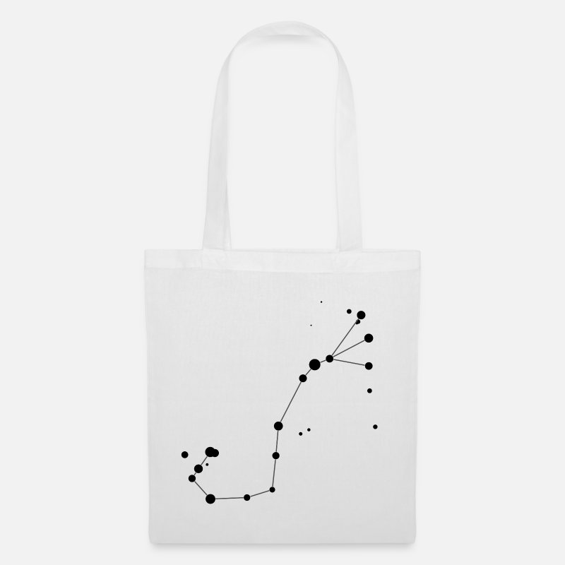 Space Bags & Backpacks - Scorpius (Scorpio) Constellation - Tote Bag white