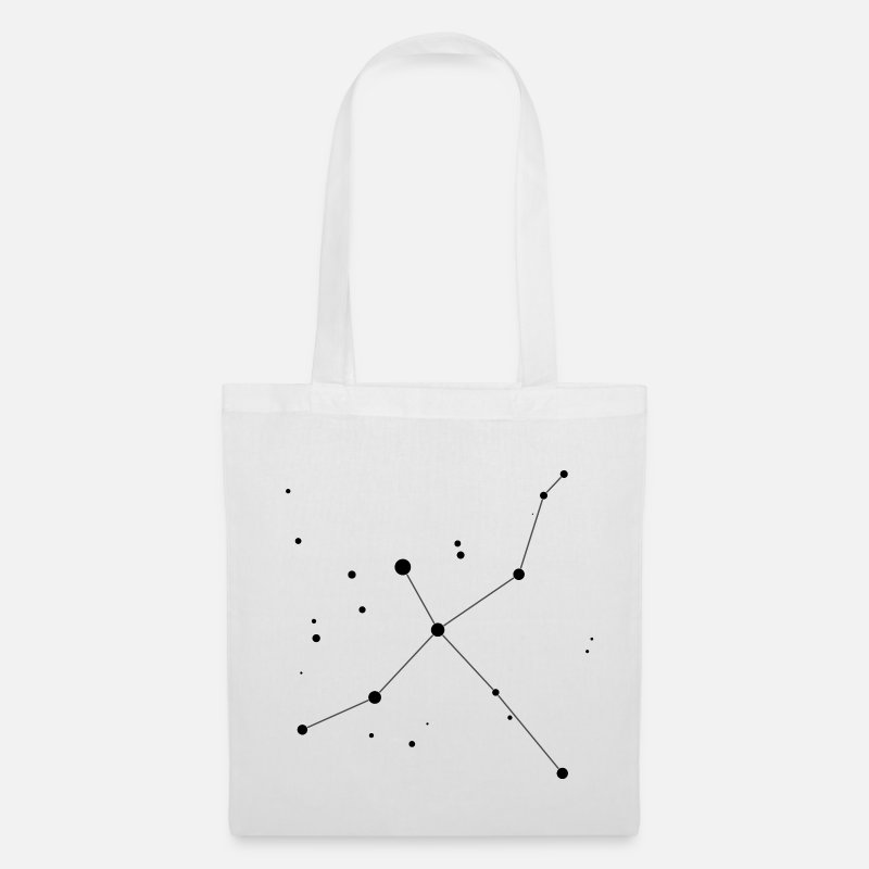 Astronomy Bags & Backpacks - Cygnus Constellation - Tote Bag white