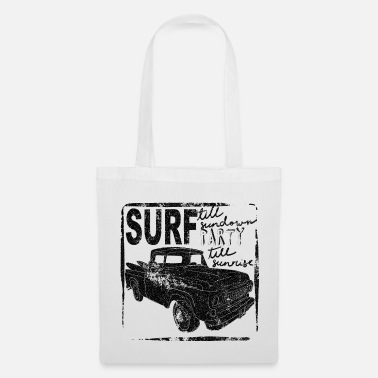 Voiture Surf till sundown. Cool vintage, retro surf mobile - Tote Bag