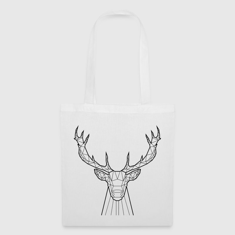 Cerf Noir - Animal Prism - Tote Bag