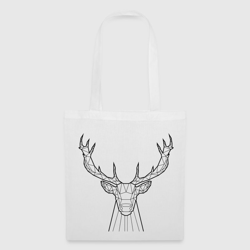 Black Deer - Animal Prism - Tote Bag