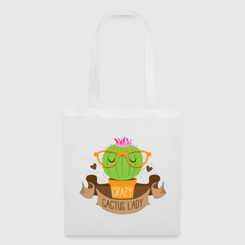 crazy cactus lady banner - Tote Bag