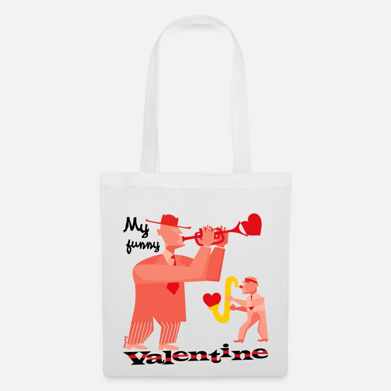 Bestsellers Q4 2018 Bags & Backpacks - My funny valentine. - Tote Bag white