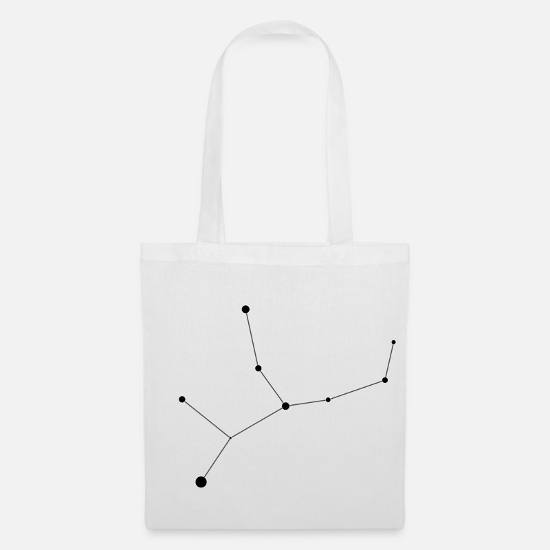 Virgo Bags & Backpacks - Virgo Constellation - Tote Bag white