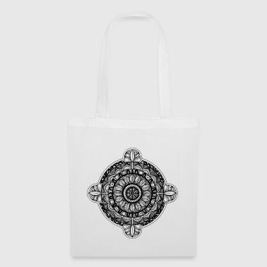 mandala_02_black - Tote Bag