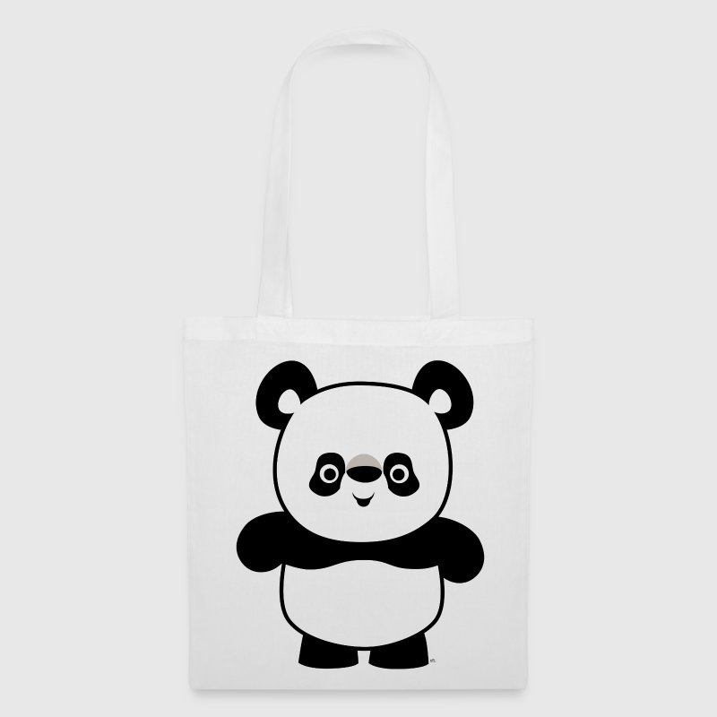 Cute Happy Cartoon Panda by Cheerful Madness!! - Tote Bag