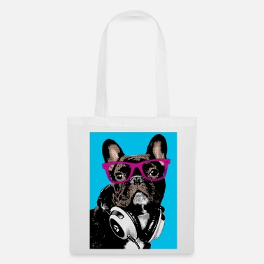 Bulldog Pop Art Bulldog - Tas van stof