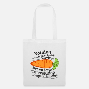 Quotes Vegan  Quote - EVOLUTION - Tote Bag
