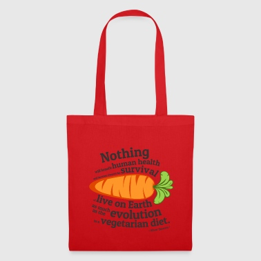 Vegan  Quote - EVOLUTION - Tote Bag
