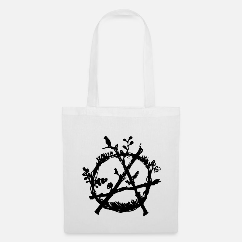 Vegan Bags & Backpacks - green anarchy eco - Tote Bag white