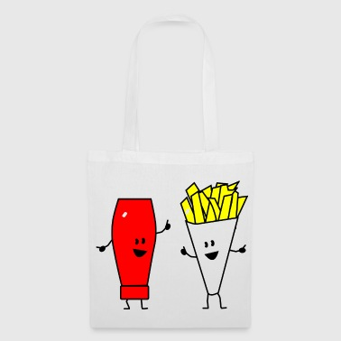 french fries ketchup - Tote Bag