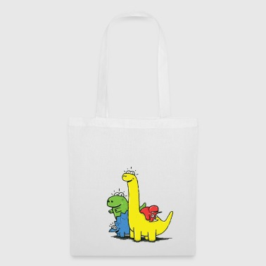 Dino Gang, Colored - Bolsa de tela